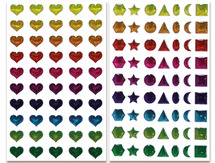 3d stickers met glitter (set van 8)