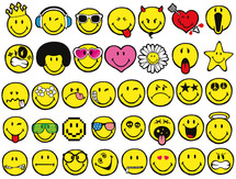 Stampo smiley (set van 38)