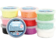 Boetseren - foam clay - glitter - 35gr - ass/10kl