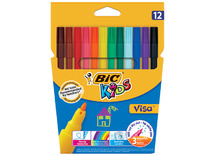 Stift - kleurstift - bic kids visa - ass/12