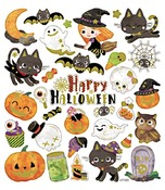 Stickers - halloween - set/4 vellen