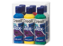 Verf - textiel - creall - tex - 80 ml -  ass/6kl