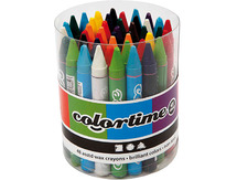 Waskrijt - colortime - dik - pot/48
