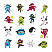 Tattoos - ninja - set/48