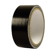 Kleefband - duct-tape - zwart - breed - rol/25m