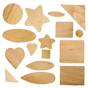 Hout - woodsies - set/500