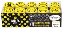 Stempel - stampo easy - zelfinktend -smiley - ass/10