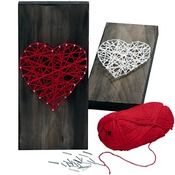Hout - nageltjes - string art - set/2000