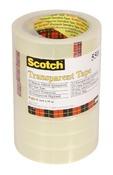 Kleefband - scotch - transparante tape - 19 mmx66 m - set/ 8