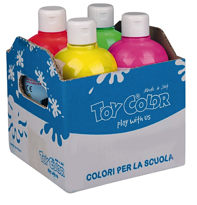 Verf - Toy Color - Fluor - 250 Ml - Ass/4