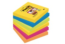 Memobloks - post-it rio - 7,6x7,6 cm - ass/6