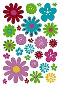 Stickers - bloemen - set/600