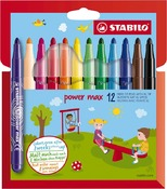 Stift - stabilo - power max - set/12