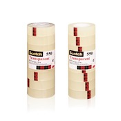 Kleefband - scotch - transparante tape - 19 mmx33 m - set/8