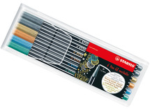 Stift - stabilo pen 68 - metallic -ass/6